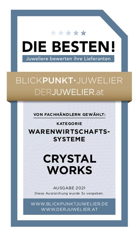 crystalworks. Auszeichnung